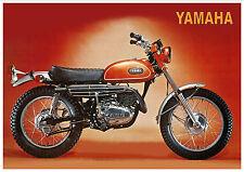 YAMAHA Poster DT1 DT1-E 250cc Trail Superb Suitable to Frame