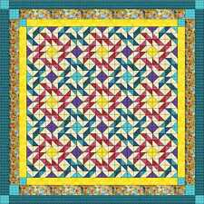 Quilt Kit Picking Posies/Batik Tonals/Pre-cut Fabrics Ready To Sew/KING SIZE