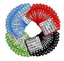 Royal Bingo Mixed Color 100 Cards  Set Vintage Games Slider Hobbie Lotto Craft