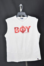 P.O. TNT Boy Toy TANK TOP Tshirt WHITE WITH red Foil M/L SIZE 4