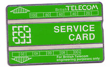 MINT 200 UNIT GREEN AND WHITE SERVICE BT PHONECARD