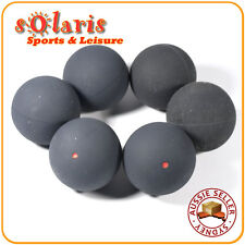 6 x RED Dot Squash Balls Generic Non-Branded High Quality Rubber