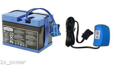 12v Blue Battery and Charger Combo Peg Perego IAKB0501 for Ride on Toys 12 Volt