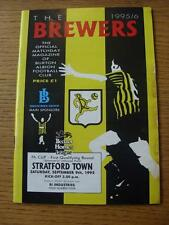 09/09/1995 Burton Albion v Stratford Town [FA Cup] (Stained/Damaged Edge).