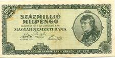 HONGRIE HUNGARY MAGYAR 100 MILLIO 1946 état voir scan