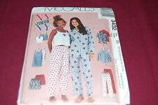 McCalls Pattern # 3432 - Juniors Pajamas, Nightgown, Camisole + 11/12-17/18 -NEW