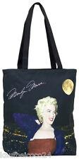 Tasche Umhängen elegant Dame Geschenk Kunst schwarz Marilyn Monroe 4132