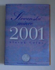 KMS Slowakei 2001 ° Kursmünzensatz mit 10 Heller - 10 Kronen Original-Blister