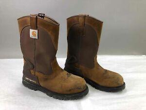 Brown Carhartt CMP1200 Safety Toe Boots, Sz 10.5