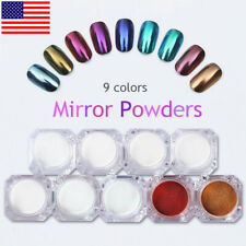 9 Boxes/Set Born Pretty Nail Glitter Powder Mirror Chrome Pigment Nail Art Dust