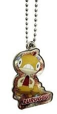 "Pokemon Takara Tomy Black & White Metal Keychain-1.5"" Zuruggu-Scraggy"