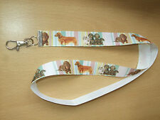 Handmade Dachshund Dog Lanyard Whistle Walking Training Puppy ID Key Long Short