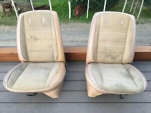 AMC Jeep FSJ Cherokee Wagoneer Factory Front Bucket Seats Original Oem Rare USA!