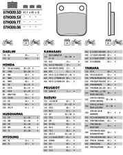 2 Plaquettes frein Avant Brembo 07HO0906 Kawasaki KVF 400 Prairie VF400A 97-98