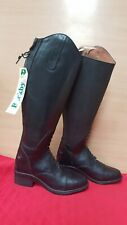 NEW ** EQVVS ** SIZE 5 BLACK LEATHER LADIES LONG SHOW RIDING BOOTS RRP £155