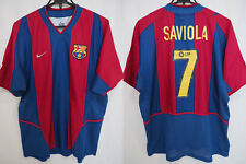 2002-2003 FC Barcelona Barca FCB Jersey Shirt Camiseta Home Nike Saviola #7 L