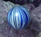 "Amazing Dark Cobalt Blue Tight Onion Skin RARE Handmade German Marbles .54"" NM-"