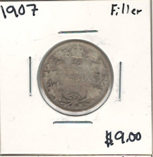 Canada 1907 Silver 25 Cents Filler Lot#2