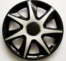"""SET OF 4 16"""" WHEEL TRIMS,RIMS TO FIT FORD FIESTA, FOCUS, FUSION + FREE GIFT #8"""