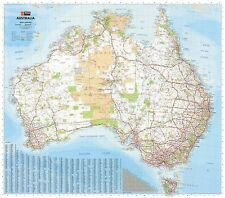 (LAMINATED) MEGA MAP OF AUSTRALIA GIANT POSTER (148x169cm) WALL CHART PICTURE