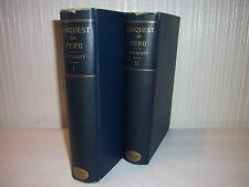 2 BOOK SET--HISTORY OF THE CONQUEST OF PERU (INCAS)--WILLIAM H. PRESCOTT--(1900)