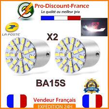 2 x Ampoule 22 LED BA15S 1156 P21W Blanc Xénon Voiture Feux Recul Ampoules