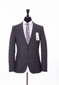 Ben Sherman Slim Fit Suit Grey Pearl Camden