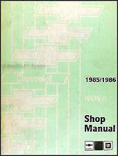 1985 1986 Chevy Nova Repair Shop Manual 85 86 Chevrolet OEM Original Service
