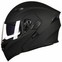 Motorcycle Helmet With Bluetooth Headset Modular Flip Up Motorbike Helmets DOT