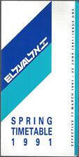 El Al Israeli Airlines system timetable 3/17/91 [8041]