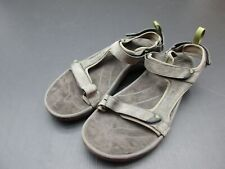 Teva Size 14 Mens Gray Leather Casual Valcro Closures Open Toe Strap Sandals 3A