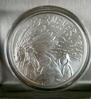 1oz 999 Silver shield Never Trust Government Sioux natives crazy horse lakota