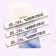 3x OEM 5.3L VORTEC HOOD Emblems Engine Badge Silverado Z71 GMC Sierra Chrome 1YU