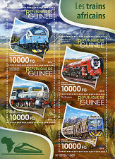 Guinea 2015 MNH African Trains 4v M/S Railways Chemin de Fer SAR Class Stamps