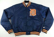 Vintage Starter MLB Detroit Tigers Button Up Satin Jacket Size Mens XL