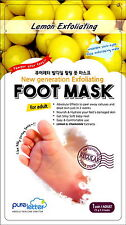 [PURELETTER] Triclosan-free Lemon Exfoliating Exfoliator Foot Peeling Care Mask