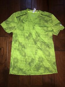 Adidas Supernova Climachill Shirt Short Sleeve Crew Men's L Highlighter Yellow