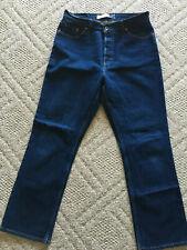 Gap Womens Bootcut Button-Fly Dark Wash Blue Jeans - Size 14 - Inseam 30.5