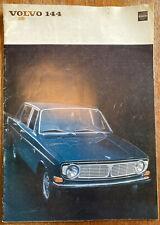 Vintage 1967 Volvo 144 Car Sales Promotional Brochure Booklet & Technical Data
