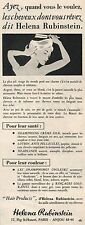 ▬► PUBLICITÉ ADVERTISING AD Shampooing Crème HELENA RUBINSTEIN 1954
