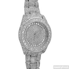 Silver 41MM Genuine Czech Crystal Iced Out Watch