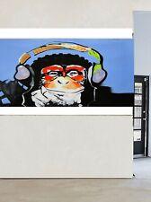 200cm CANVAS Art Print DJ MONKEY gorilla ape chimp PAINTING headphones Australia
