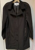 Women's Alfred Sung Lined Trench Jacket, Black, Size 15/16