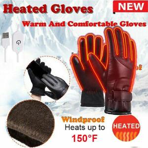 Waterproof Hand Gloves Motorbike Motorcycle Heated Winter Warm Electric USB UK