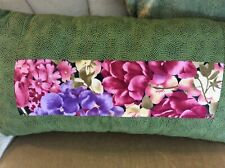 Flower panel throw pillow