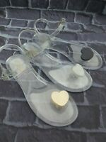 "Jelly Sandal ""VIGO"" Women's Thong Flat Slingback w/Hart by ANN MORE"