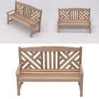 1:12 Scale Dollhouse Unpainted Garden Bench Chair Miniature Bedoom Decor