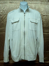 "EXPRESS - Men's Track Top Jacket - White - ""Truth & Valor"" -Size L"