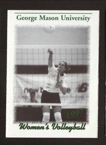 George Mason Patriots--1997 Volleyball Pocket Schedule--Mizuno