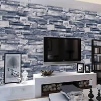 Wallpaper Bricks Slate Textured Rustic 3D Effect Grey Brick Tones Wall Paper